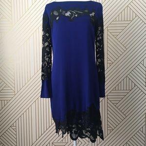 Diane Von Furstenberg ernestina silk & lace dress